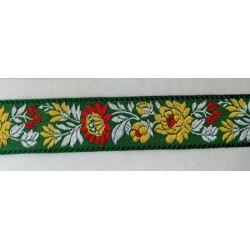 Matyó szalag zöld 3,5 cm