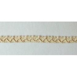 Flitteres díszítő szalag drapp