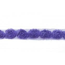 Rózsás szalag lila