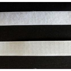 Tépőzár fehér 2 cm