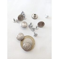 Farmer gomb kicsi ezüst 3