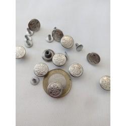 Farmer gomb kicsi ezüst 4