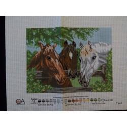Keresztszemes kép 44 lovak