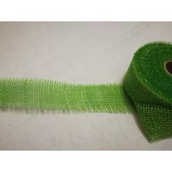 Zsákvászon szalag zöld