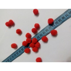 Pompon 1,5 cm piros