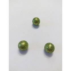 Zöld lurexes hungarocell gömb