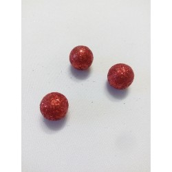 Piros lurexes hungarocell gömb