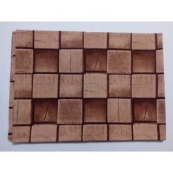 Barna kockás abrosz (140x200)