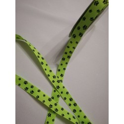 Ripsz szalag zöld tappancsos