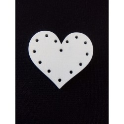 Fehér fa szív 2