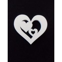Fehér fa szív 3