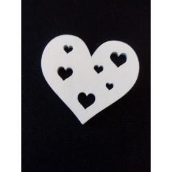 Fehér fa szív 5