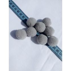 Pompon 2,5 cm szürke