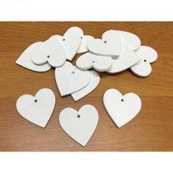 Fa szív fehér 4 cm