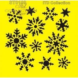 Stencil hópelyhes