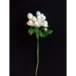 Gyöngyös virágközép fehér
