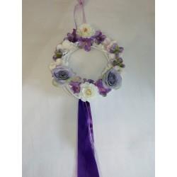 Ajtódísz lila